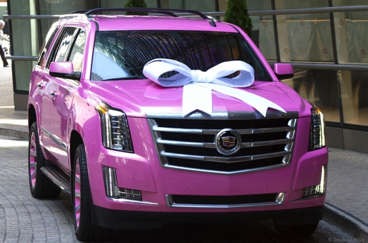 Cadillac Celabrates Future Nfl Star With A 2015 Pink Escalade For
