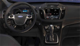 ford continues to please with the overall design functionality and fit and finish of their interiors the escapes standard cloth seats are as comfortable - 2013 Ford Explorer Cloth Interior