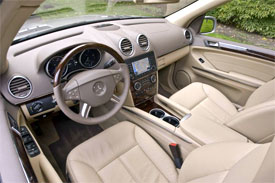 The upscale IP is headlined by large, clear gauges, and is trimmed with  Birds-eye Maple. Our GL's plush seats were wrapped in fine grain leather  with heat, ...